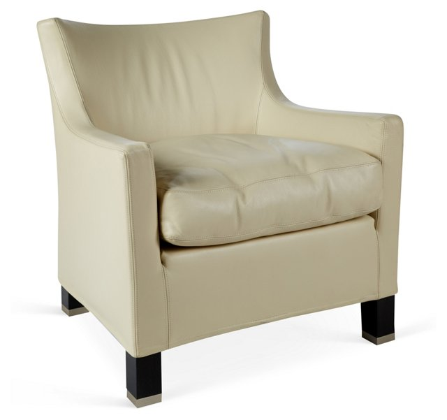 Giorgia Leather Armchair, Beige