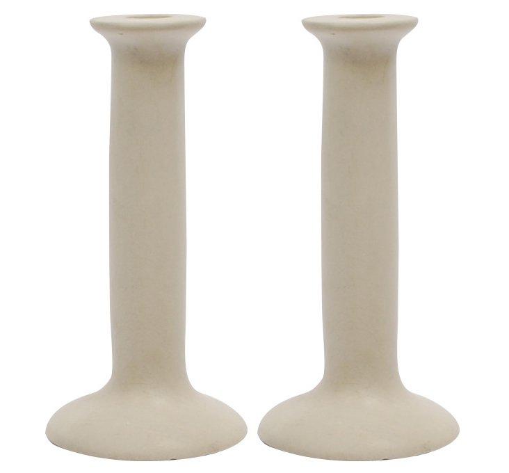 DNU S/2 Sandstone Candlestick Holders