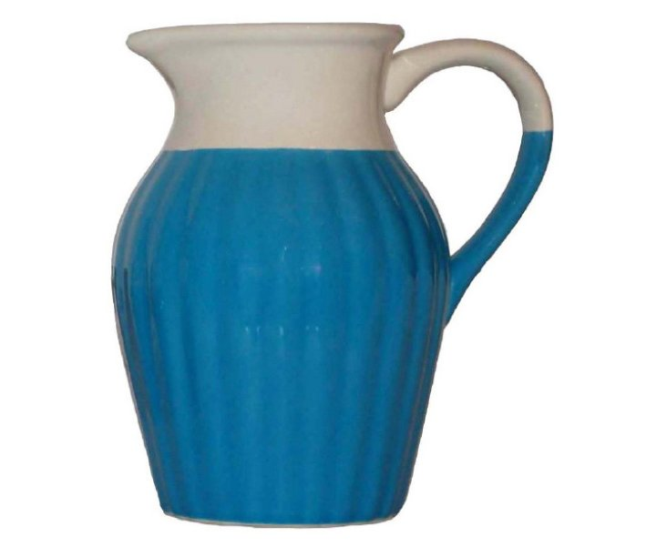 Large Two-Tone Pitcher, Blue