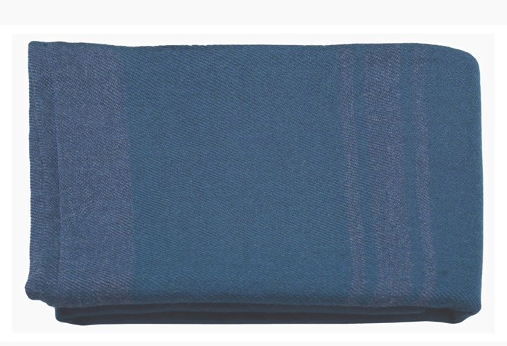 Baby Alpaca Throw, Striped Blue/Violet