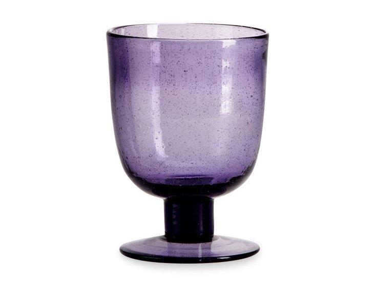 S/6 Bario Bubble Glasses, Amethyst