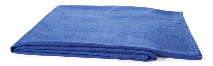 Alpaca Throw Blue w/ Violet Stitch