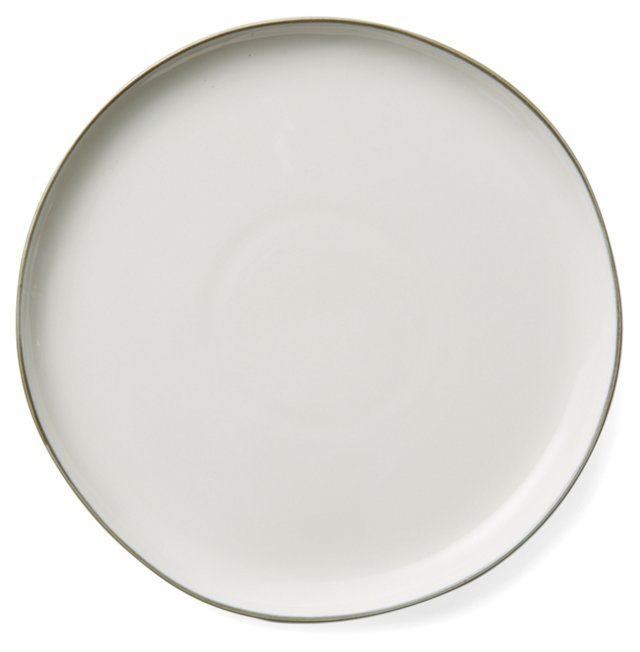 DNU S/4 Abbesses Salad Plates, Gray Trim