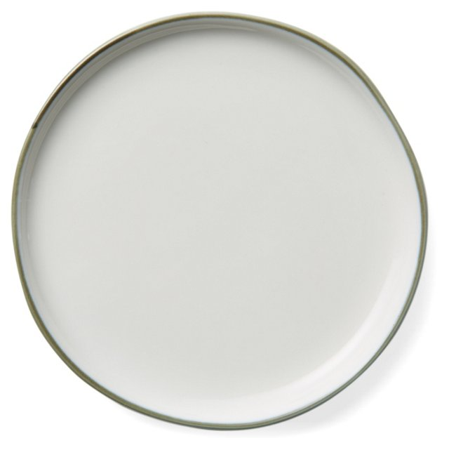 DNU S/4 Abbesses Bread Plates, Gray Trim