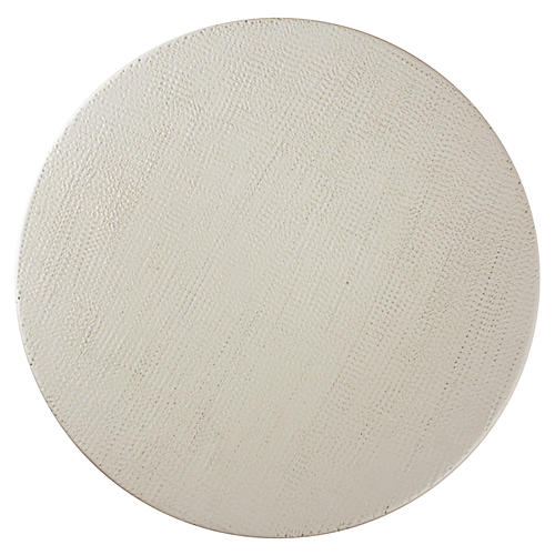 Anabra Linen Textured Bowl, White