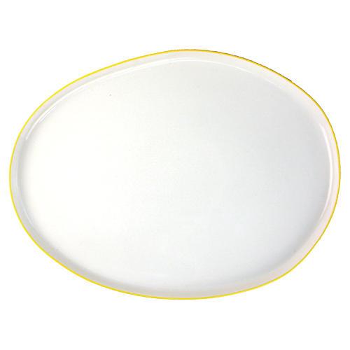 Abbesses Platter, Yellow Rim