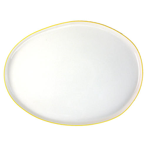Abbesses Platter, Yellow Rim