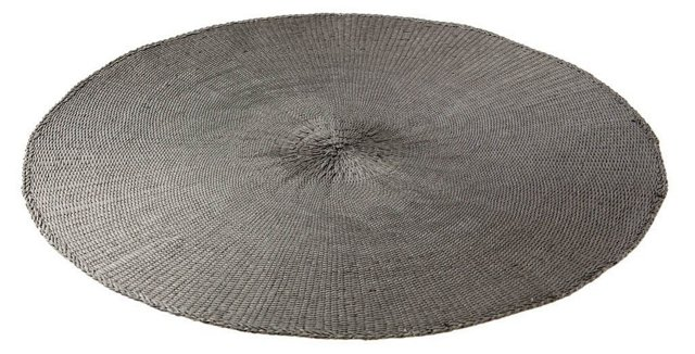 DNU S/8 Round Cotton Place Mats, Gray
