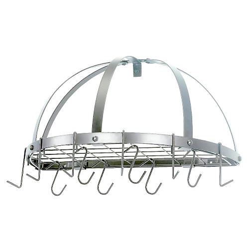 12-Hook Pot Rack, Nickel