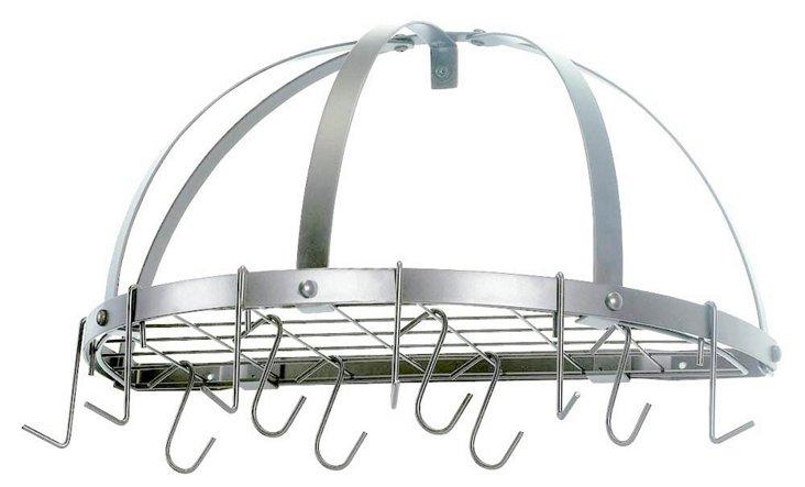 12-Hook Pot Rack, Nickel