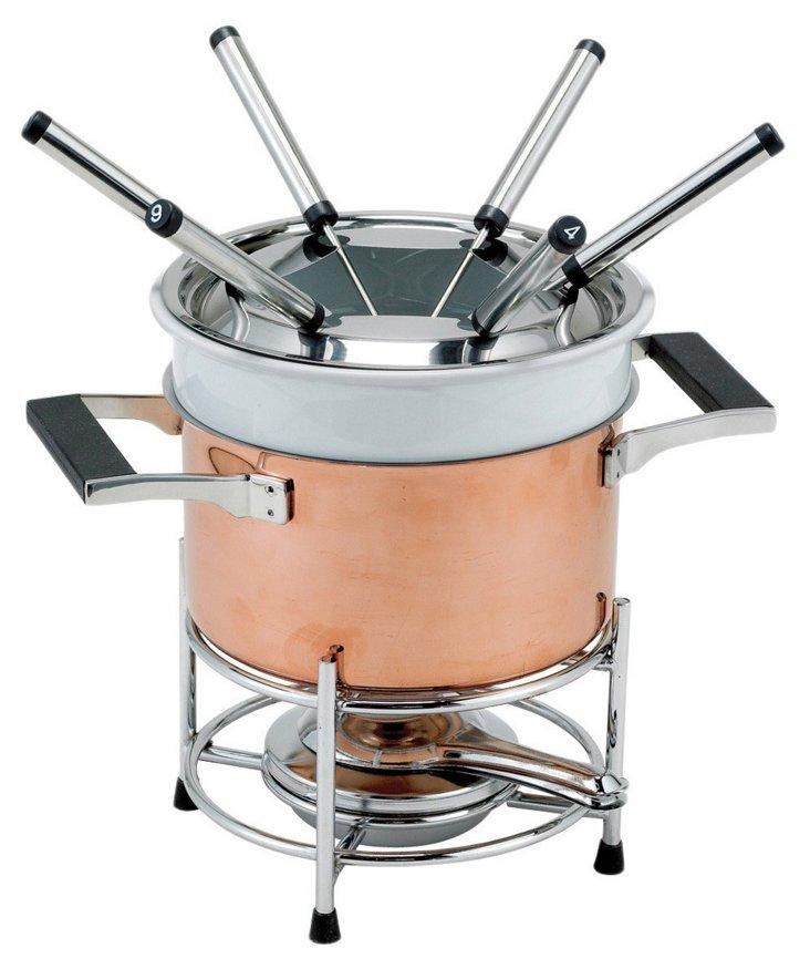 2 Qt Copper Fondue Set