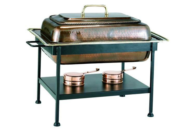 Chafing Dish, Antique Copper