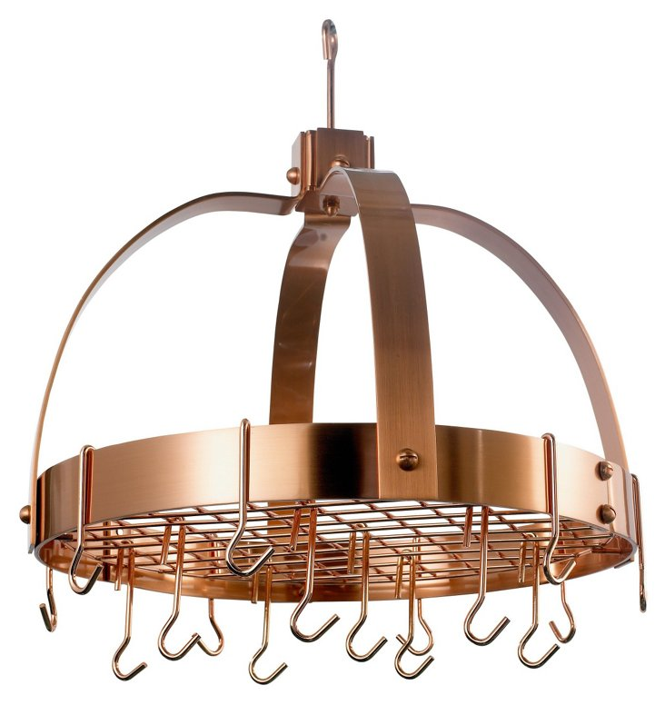 16-Hook Dome Pot Rack, Copper