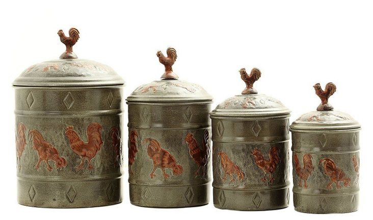 Rooster Nested Canisters