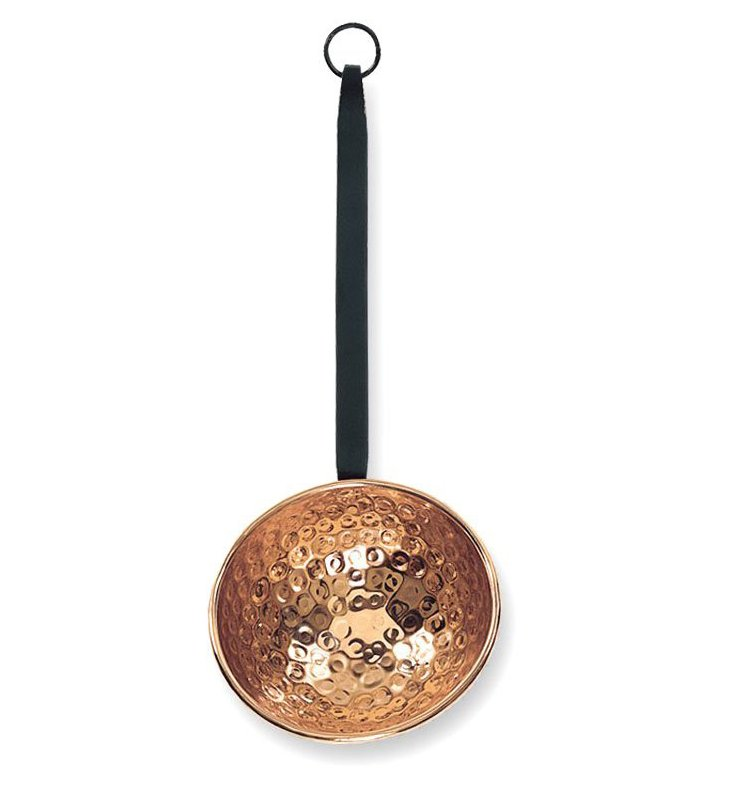 Small Decor Ladle w/ Handle, Copper