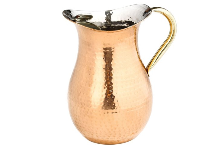 Hammered Water Pitcher
