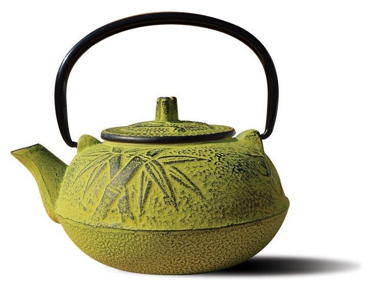 20 Oz Cast Iron Osaka Teapot, Moss Green