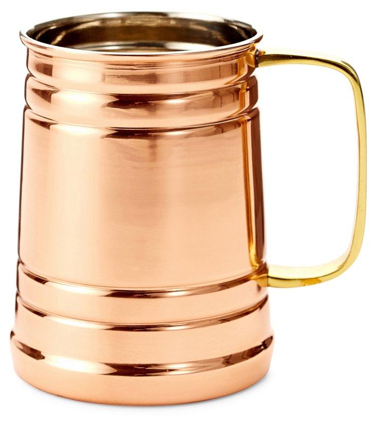 Solid Copper Tankard w/ Brass Handle