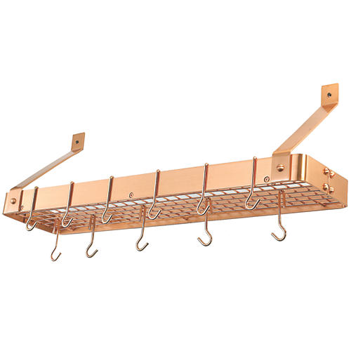 Satin Copper Cookware Shelf w/ Grid