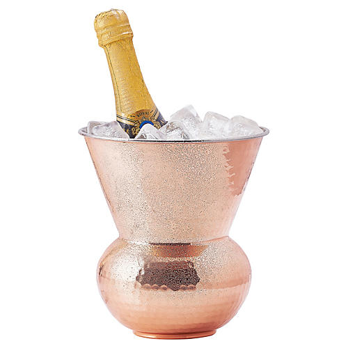 Hammered Copper Hourglass Cooler, 104 Oz