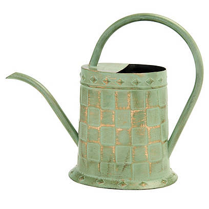 "13"" Quavious Watering Can, Green/Gold"