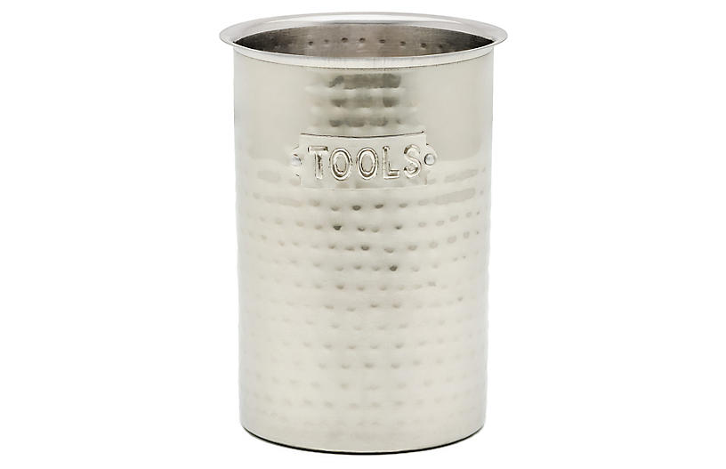 Powis Hammered Tool Caddy, Silver