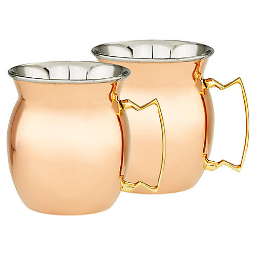 S/2 Stockton Moscow Mule Mugs, Copper