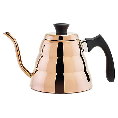 Geary Tea Kettle, Copper/Black