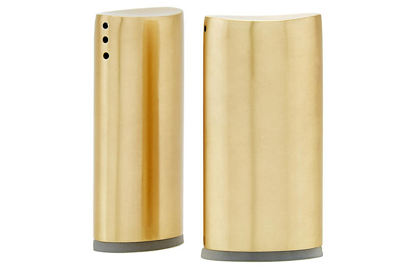 S/2 Essex S & P Shakers, Gold