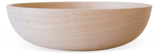 Large Unfinished Maple Bowl