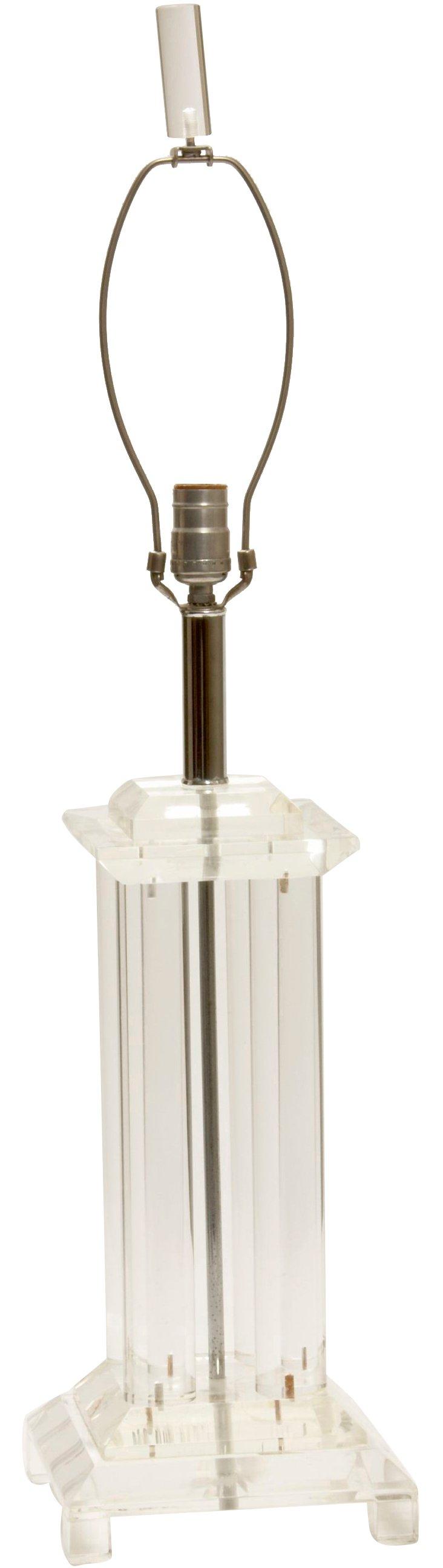Four-Column Lucite Lamp