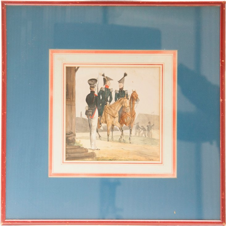 Framed Drawing, Soldier