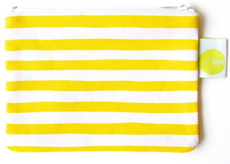 S/2 Coin Purse, Yellow Stripe
