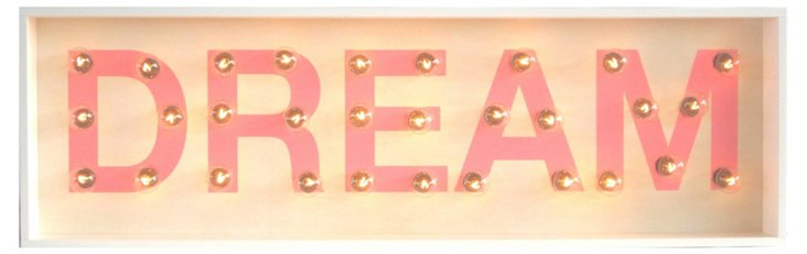 """Marquee Light-Up """"Dream"""" Sign"""