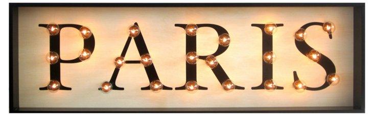"Marquee Light-Up ""Paris"" Sign"