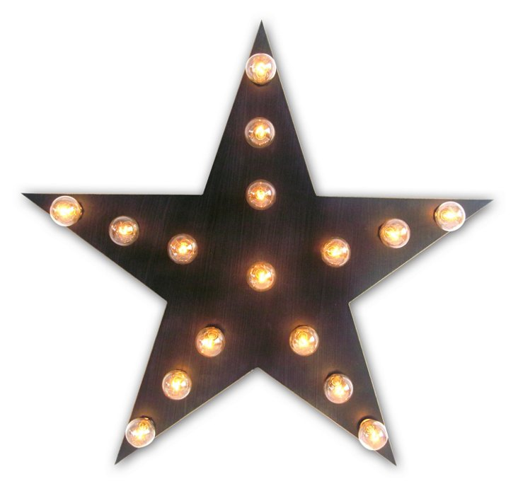 Marquee Light-Up Star, Black