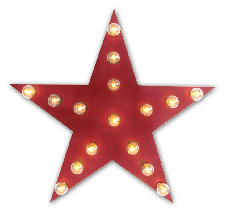 Marquee Light-Up Star, Red