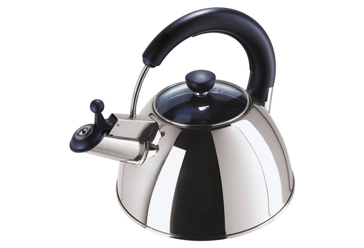 Satin S/S Whistling Kettle w/ Glass Lid