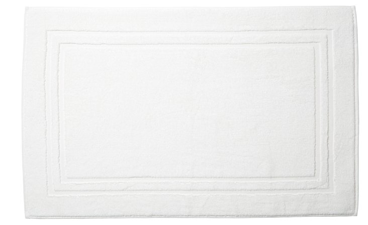 Solid Dobby Bath Mat, White