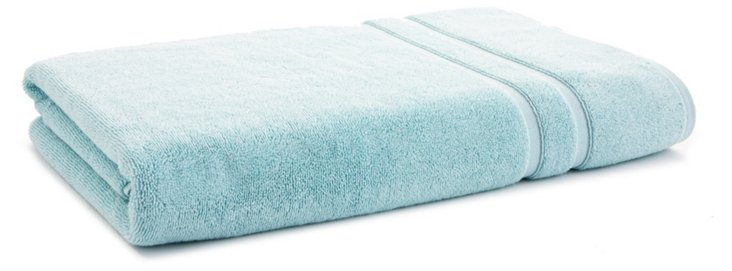 Solid Dobby Bath Sheet, Light Aqua