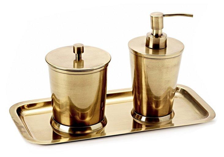 3-Pc Wallingford Bath Set, Brass