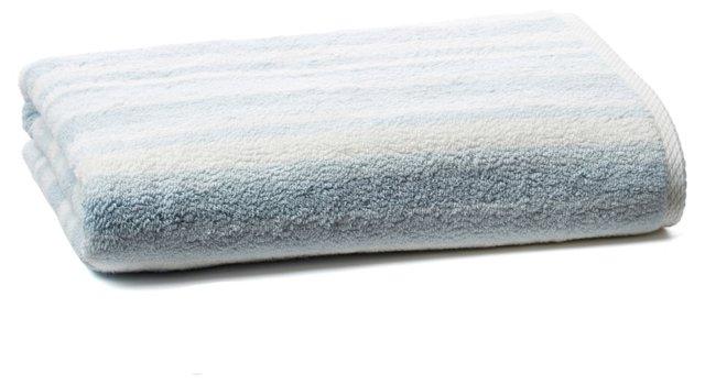 Stripe Bath Towel, Maritime Blue