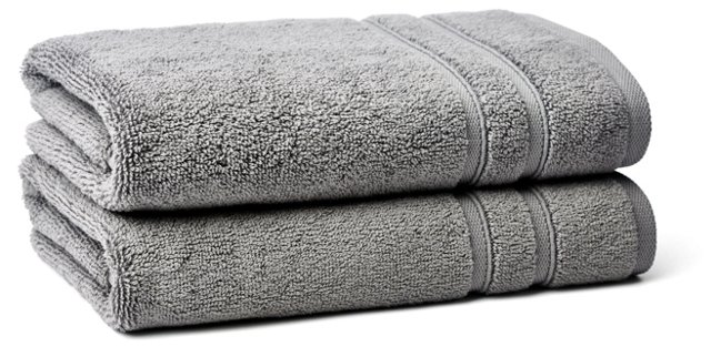 S/2 Solid Dobby Hand Towels, Icicle