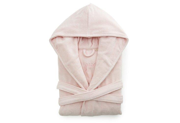 Women's Organic Lg Short Hooded Robe, Pk
