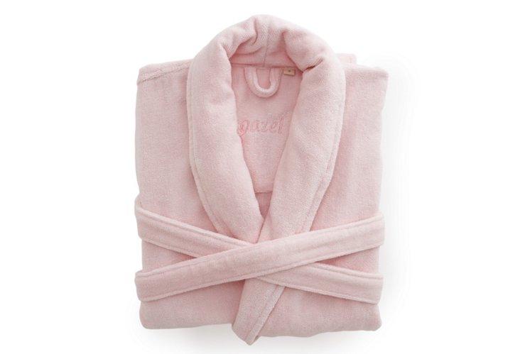 Women's Organic Shawl Collar Robe, Pink