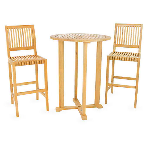 Palm Teak 3-Pc Bar Set