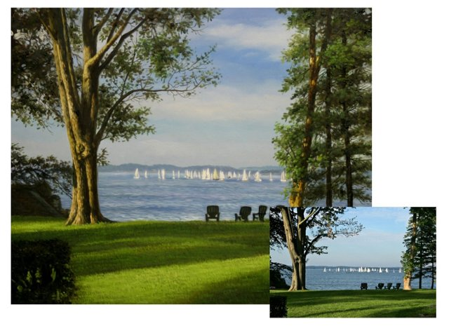 Landscape Custom Oil Portrait