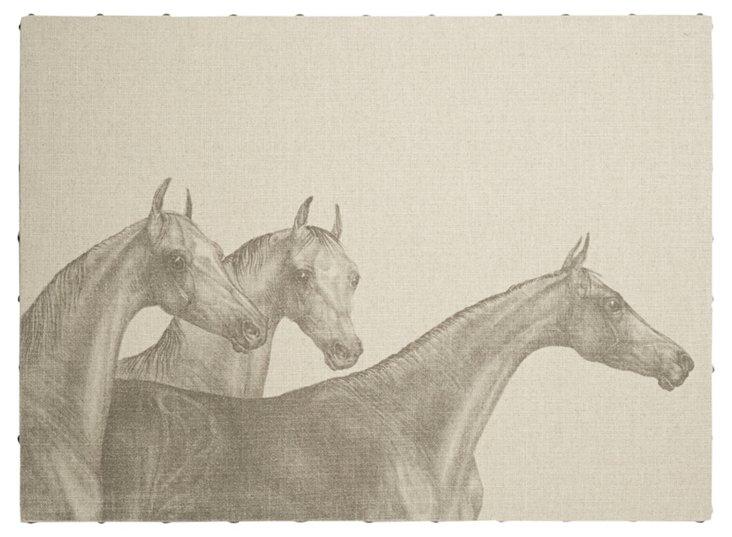 Trio of Horses, 52 x 38