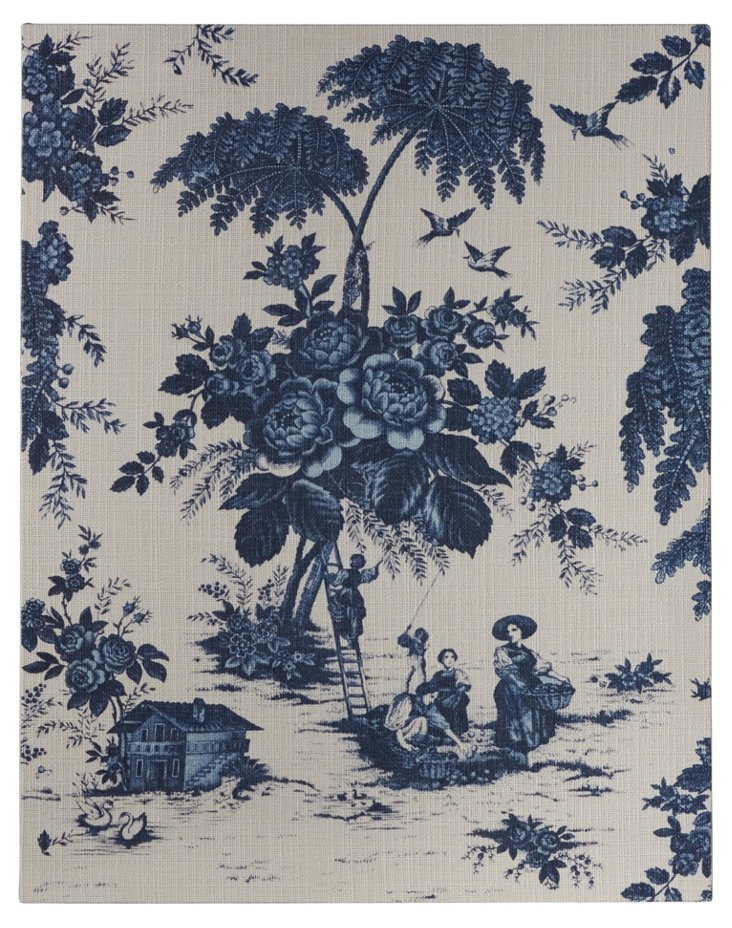 Framed French Toile, Blue