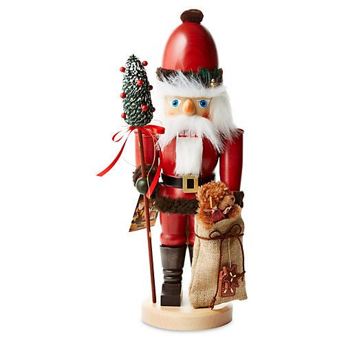 "18"" Santa w/ Teddy Nutcracker"